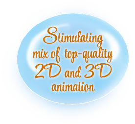 Stimulating mix of top-quality 2D and 3D animation